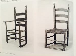 WB Southern Furniture Ladder back chairs