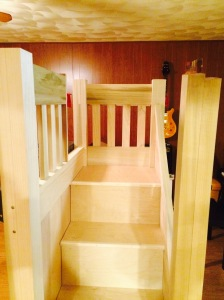 Wyatts bed stairs finished